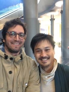 Con Koota Yamada, autor de Iki
