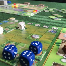 Playing-Santa-Maria-Board-Game